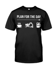 Excavator plan for the day men Classic T-Shirt thumbnail