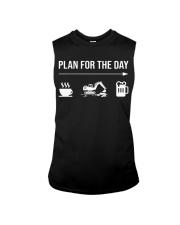 Excavator plan for the day men Sleeveless Tee thumbnail