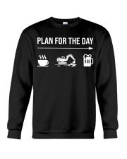 Excavator plan for the day men Crewneck Sweatshirt thumbnail