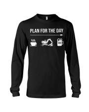 Excavator plan for the day men Long Sleeve Tee thumbnail