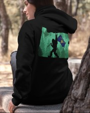 Oregon - Bigfoot Flag 2 sides Hooded Sweatshirt apparel-hooded-sweatshirt-lifestyle-06