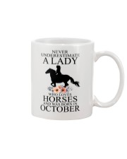 A lady who loves horses and was born in october Mug thumbnail