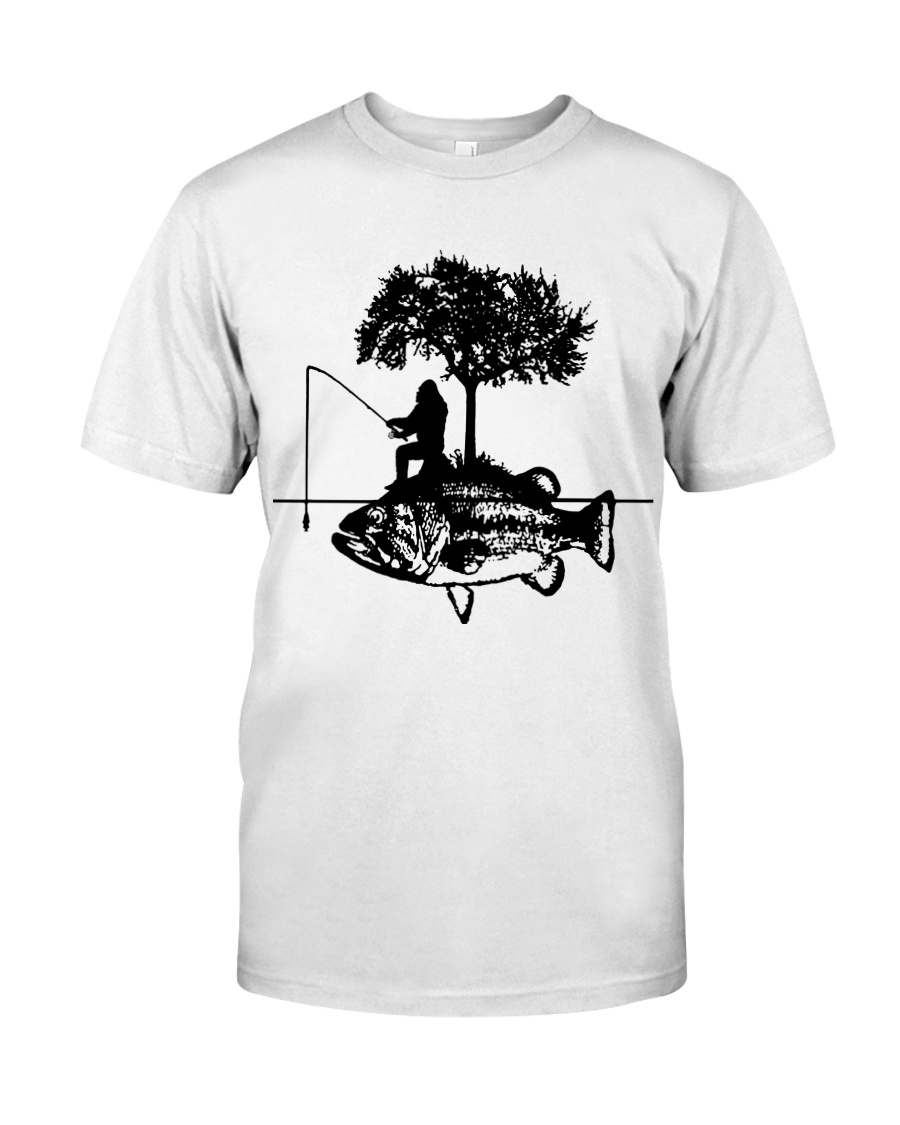 Bigfoot and fish - Year end sale Classic T-Shirt