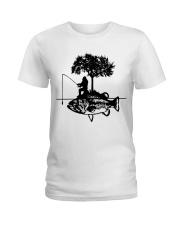 Bigfoot and fish - Year end sale Ladies T-Shirt thumbnail