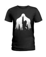 Bigfoot Rock and Roll Ladies T-Shirt thumbnail