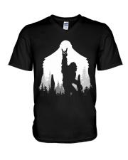 Bigfoot Rock and Roll V-Neck T-Shirt thumbnail