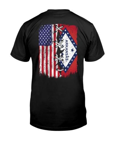 Arkansas and American flag 0037