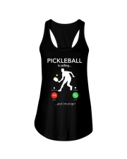 PICKLEBALL is calling Ladies Flowy Tank thumbnail