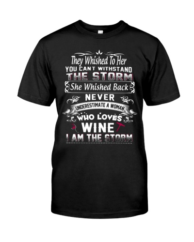 Never Underestimate a Woman Loves Wine Shirt