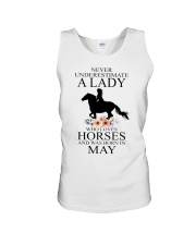 A lady who loves horses and was born in May Unisex Tank thumbnail