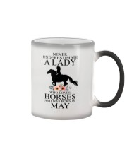 A lady who loves horses and was born in May Color Changing Mug thumbnail