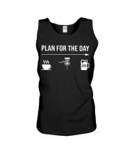 Disc golf plan for the day men Unisex Tank thumbnail