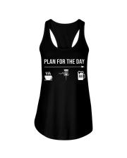 Disc golf plan for the day men Ladies Flowy Tank thumbnail