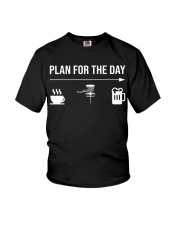 Disc golf plan for the day men Youth T-Shirt thumbnail