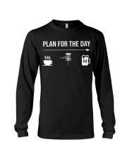 Disc golf plan for the day men Long Sleeve Tee thumbnail