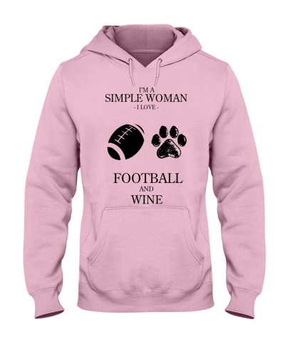 Simple Woman Love Football And Wine