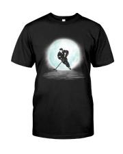 Playing hockey under the moon Classic T-Shirt thumbnail
