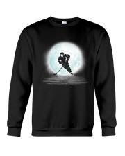 Playing hockey under the moon Crewneck Sweatshirt thumbnail