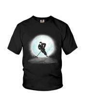 Playing hockey under the moon Youth T-Shirt thumbnail