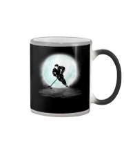 Playing hockey under the moon Color Changing Mug thumbnail
