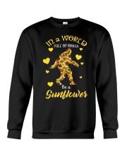 Bigfoot Sunflower sale Crewneck Sweatshirt thumbnail