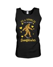 Bigfoot Sunflower sale Unisex Tank thumbnail