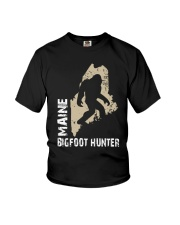 Maine Bigfoot Hunter Youth T-Shirt tile