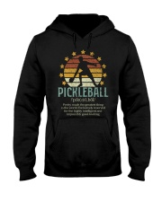 Pickleball Dictionary Hooded Sweatshirt front