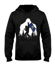Idaho Flag Bigfoot Rock and roll Hooded Sweatshirt front