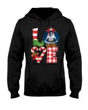 Love Louisiana christmas 9993 0037-UE Hooded Sweatshirt front