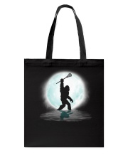 Bigfoot lacrosse under the moon Tote Bag thumbnail