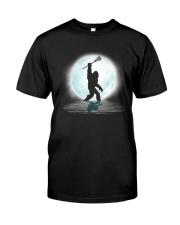 Bigfoot lacrosse under the moon Classic T-Shirt thumbnail