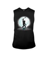 Bigfoot lacrosse under the moon Sleeveless Tee thumbnail