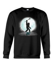 Bigfoot lacrosse under the moon Crewneck Sweatshirt thumbnail