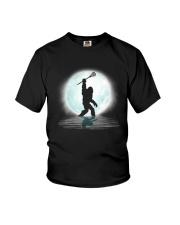 Bigfoot lacrosse under the moon Youth T-Shirt thumbnail