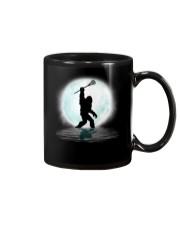 Bigfoot lacrosse under the moon Mug thumbnail