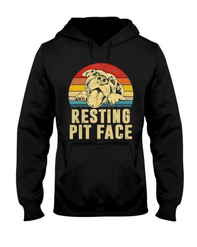 Resting Pit Face Pitbull Vintage