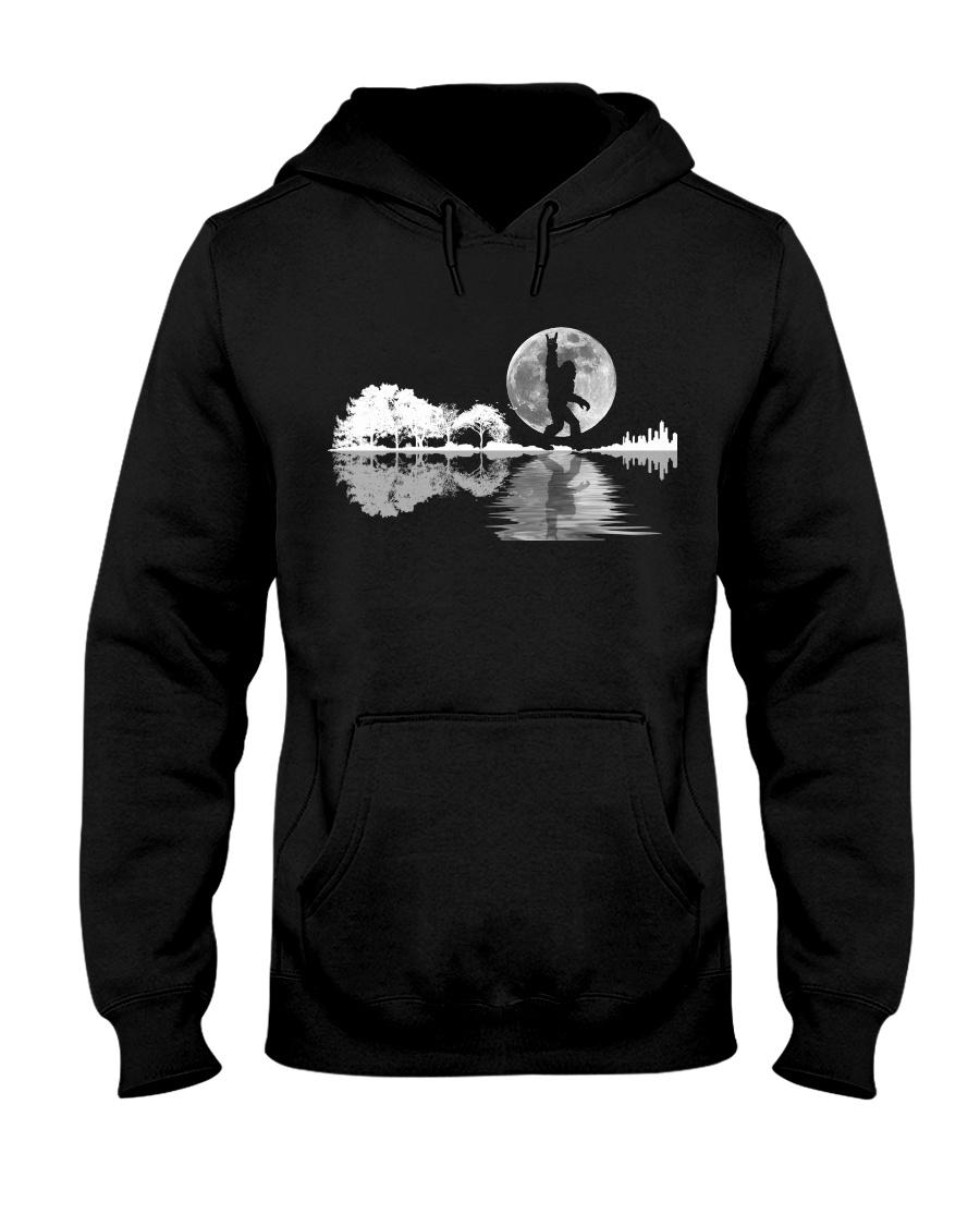 igfoot Rock And Roll Guitar Lake Shadow Musician Hooded Sweatshirt