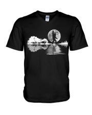 igfoot Rock And Roll Guitar Lake Shadow Musician V-Neck T-Shirt thumbnail