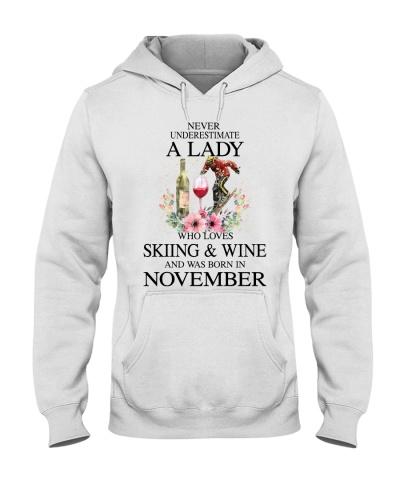 Skiing Wine Never Underestimate a Lady - November