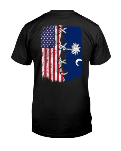 South Carolina and American flag 0037