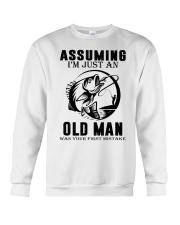 fishing old man Crewneck Sweatshirt thumbnail