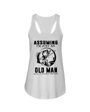 fishing old man Ladies Flowy Tank thumbnail