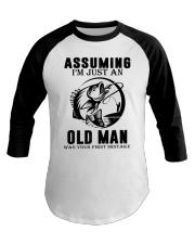fishing old man Baseball Tee thumbnail