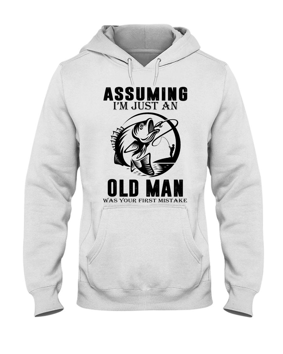 fishing old man Hooded Sweatshirt
