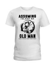 fishing old man Ladies T-Shirt thumbnail