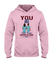 You and me - best nurse partner for life Hooded Sweatshirt front