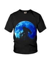 Bigfoot and blue moon Youth T-Shirt thumbnail