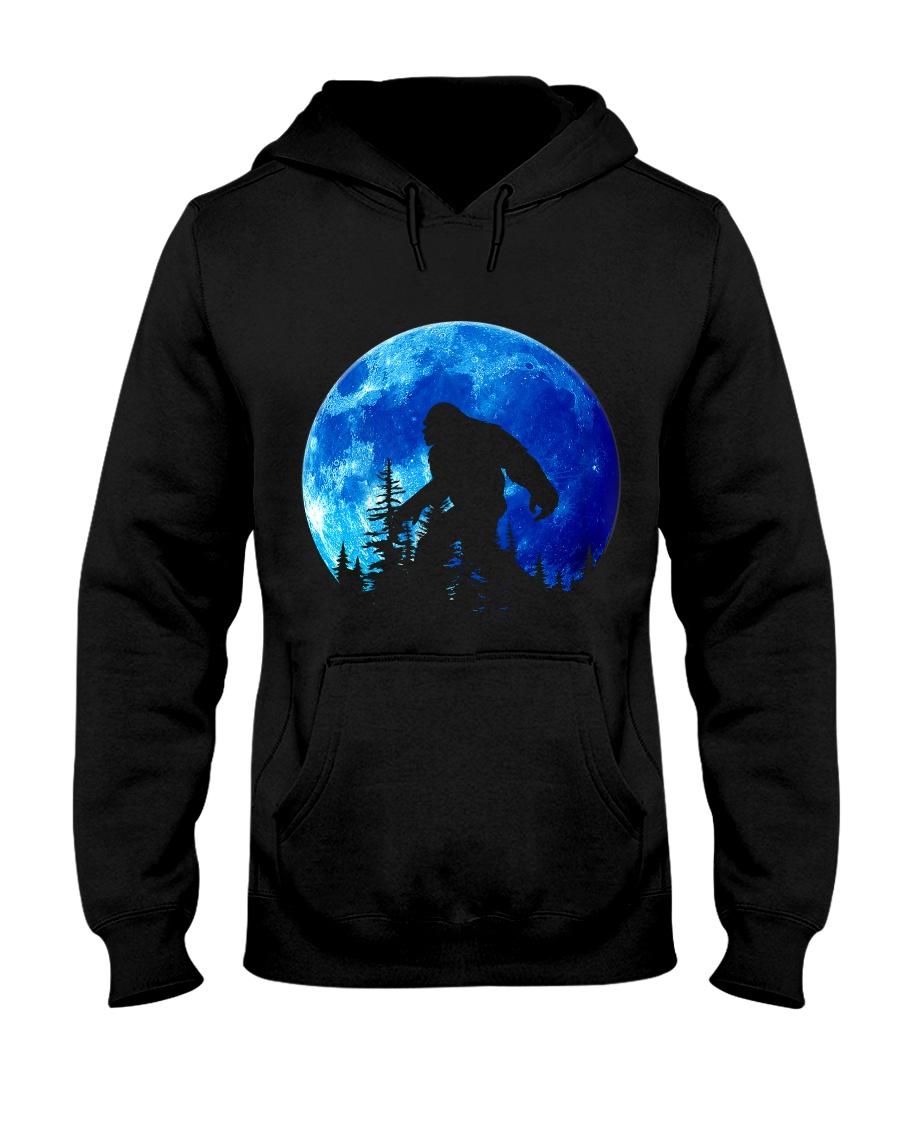 Bigfoot and blue moon Hooded Sweatshirt