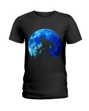 Bigfoot and blue moon Ladies T-Shirt thumbnail